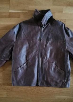 Кожаная куртка мужская р. l, рост 180-185 см