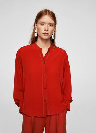 Шикарная блуза из вискозы от mango, p. l