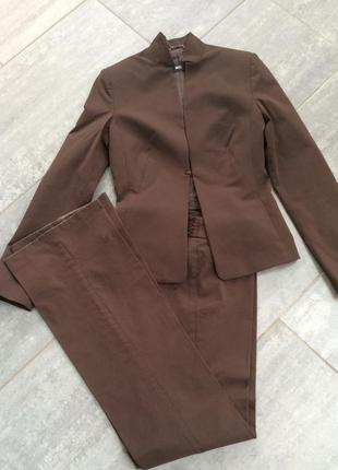 Костюм тройка пиджак юбка брюки mng манго р 42
