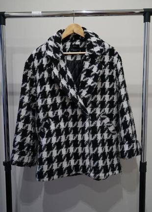 Пальто oversize bershka  гусинная лапка
