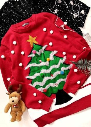 Новогодний свитер с лампочками,светящийся, рождество олени