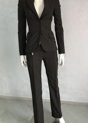 Richmond деловой костюм коричневый пиджак и брюки р 42-44