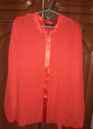 Блуза красная шифон