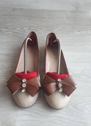 Кожаные балетки vera pelle /туфли без каблука /2я пара в в подарок
