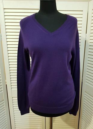 Фиолетовый свитер шерсть sevensigns