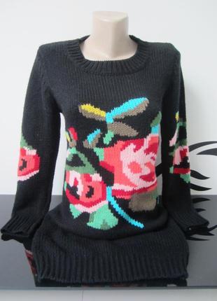 Удлиненный шерстяной свитер, туника, мини-платье dolse&gabbana.