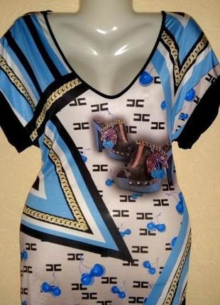 Модная футболка туника от бренда elisabetta franchi.оригинал