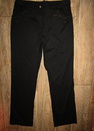 Тоненькие черные брюки р-р 14 сост новых италия