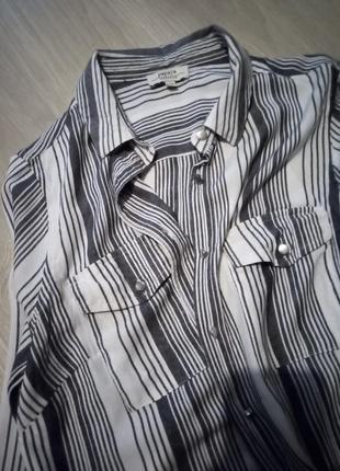 Блузка рубашка полоска papaya