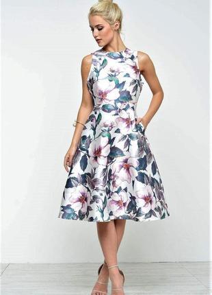 😱невероятное👗 пплатье с кремовым цветочным принтом английского брэнда ax paris.