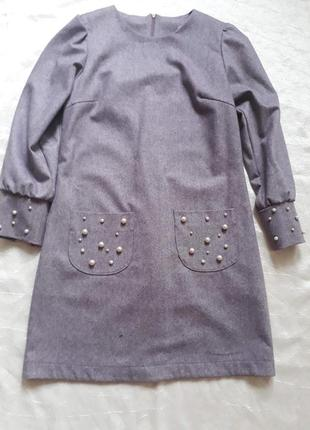 Тёплое шерстяное платье в стиле chanel