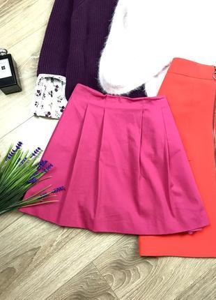 Zara грайлива,котонова фактурна юбка/шорти в складку і з карманами від zara 💕