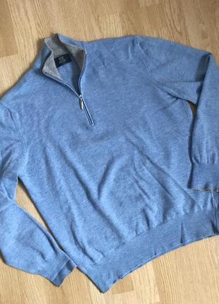 Boggi milano wool hat zip sweater свитер шерсть италия brioni canali