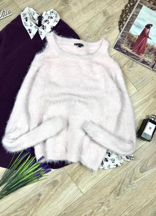 Такий ніжний светр пухнастик 🌸 з відкритими плечима від cool cat 😻