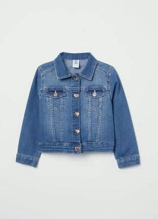 Джинсовая куртка пиджак h&m denim на рост 86-92 см