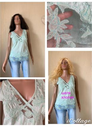 Эксклюзивная блуза с шелковой вышивкой victoire оригинал