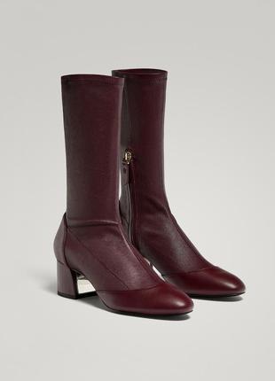 Новые ботильоны чулки cos натуральная кожа massimo dutti socks boots