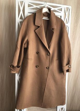 Пальто h&m premium quality с шерстью и кашемиром
