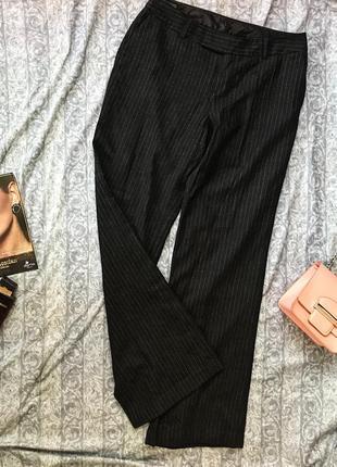 Крутейшие базовые шерстяные брюки в полоску mexx