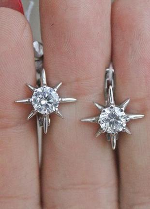Серебряные серьги исида