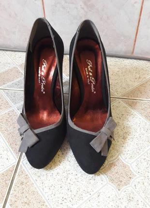 """Абсолютно новые туфли с коробкой фирмы """"pret a porter""""(италия), материал:замш!!"""