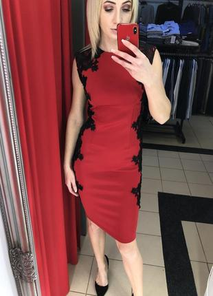 Эффектное красное платье ax paris (113)