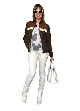 Трендовая, спортивная женская куртка-бомбер west wood