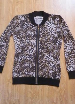 Тигровая кофта-свитер, на замке, beauty women