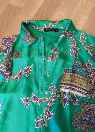 Итальянская шелковая рубашка rinascimento италия