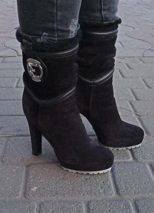 Кожаные зимние полусапожки ботиночки essere оригинал
