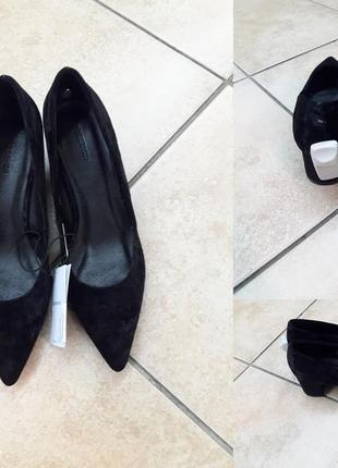 """Стильные и абсолютно новые туфли фирмы """"reserved"""". цвет: черный"""