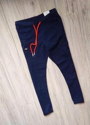 Новые с бирками мужские штаны джогеры  crrop тёмно  синие. 30р.