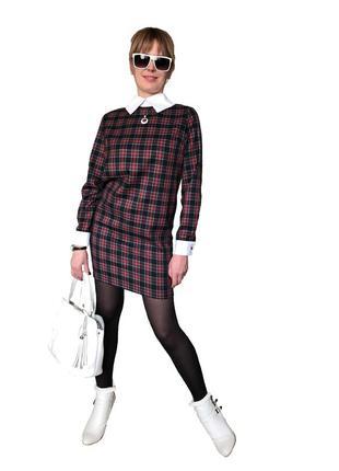 Модное в этом сезоне платье-шотландка от west wood