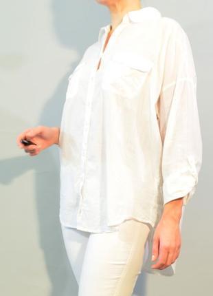 4036\40 белая рубашка f&f xl