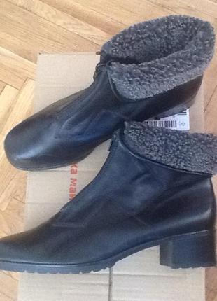 Новые немецкие кожаные утеплённые ботинки ботильоны gabor 42