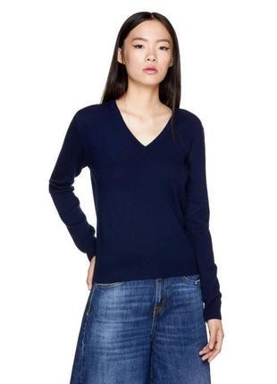 Шерстяной свитер светр джемпер пуловер водолазка шерсть benetton