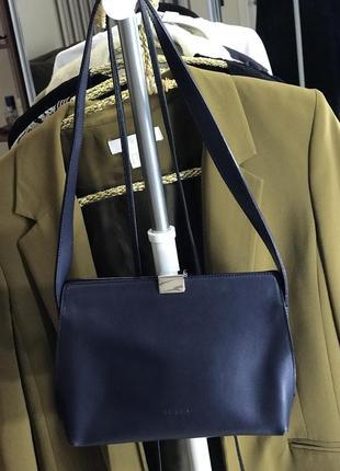Кожаная сумка furla винтаж оригинал made in italy  натуральная кожа
