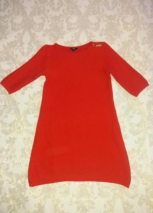 Яркое вязаное платье h&m