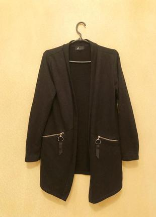 Кардиган чёрный свободный кофта свитер
