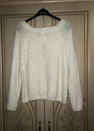 Белый свитер кофта