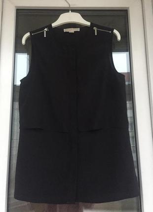 Michael kors оригинал интересная чёрная блузка размер хс