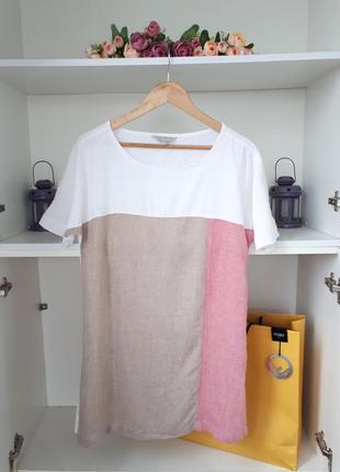 Летнее льняное платье nutmeg