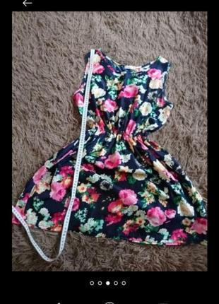 Летнее платье цветное цветы