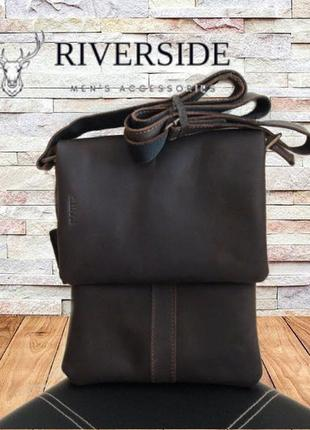 🍁🍀riverside стильная мужская сумка планшет натуральная кожа 🍁🍀🍁