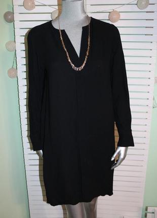 Черное платье прямое massimo dutti