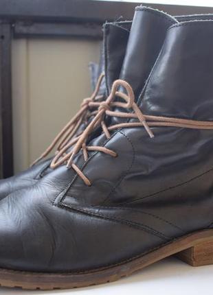 Кожаные зимние ботинки ботильоны тамарис tamaris