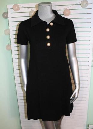 Черное платье трапеция zara