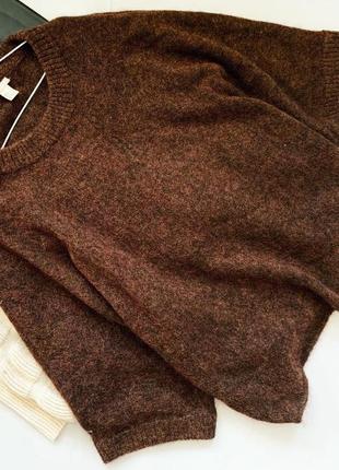 Шерстяной свитер оверсайз h&m