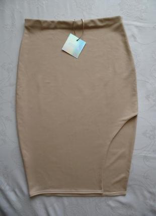 Базовая юбка карандаш трикотаж, missguided размер 14 – идет на 48-50+.