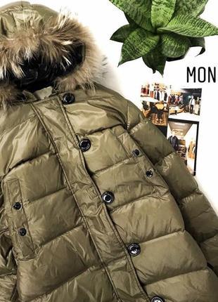 Moncler женский зимний тёплый пуховик от дорогого бренда